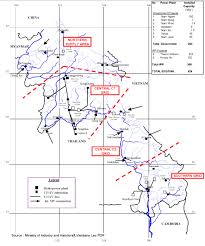 Map Of Laos Map Of Laotian Electricity Grid Laos National Energy Grids