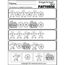 gingerbread man patterns cut and paste