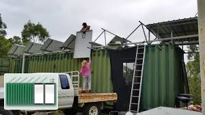 shipping container house u2013 extra solar panels on kitchen youtube
