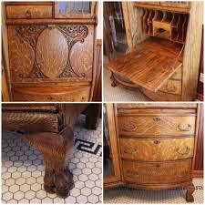 Victorian Secretary Desk by F4463 Oak Secretary Desk Bogart Bremmer U0026 Bradley Antiques