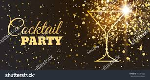 disco cocktail party poster trendy glitter stock vector 454254232