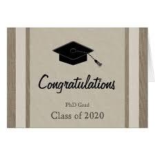 phd congratulations card phd graduation card zazzle
