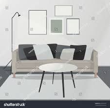 modern minimalistic scandinavian style home interior stock