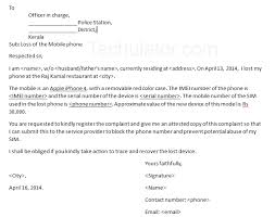 theft report form template sle letter to to report lost or stolen mobile phone