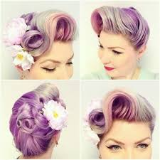 www hairstyle pin pin up pastel rainbow purple hair rockabilly chic pinterest