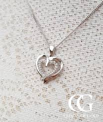double hearts necklace images 9ct white gold diamond double heart pendant chains of gold jpg