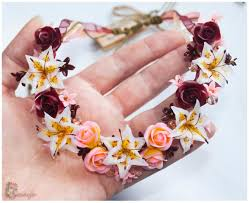 necklace flower handmade images Polymer clay floral necklace ideas jpg