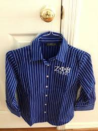 3 4 length royal and white pin stripe dress shirt accents by allen
