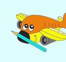coloring books children airplane aeroplane kids cartoons