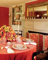 Dining Room Color by Red Rooms Martha Stewart