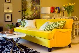 Modern Yellow Sofa Furniture A Sofa With A Vintage Design And Bold Modern Yellow