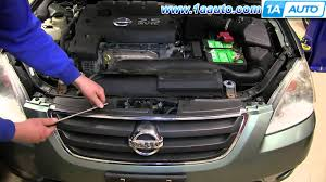 nissan acura 2010 how to remove install front grill 2002 06 nissan altima youtube