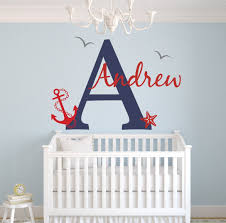 Wall Decals Baby Nursery Lovely Decals World Llc Wall Decor Custom Nautical Name Wall