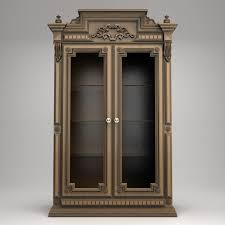 Antique Brass Display Cabinet Antique Display Cabinet 3d Cgtrader