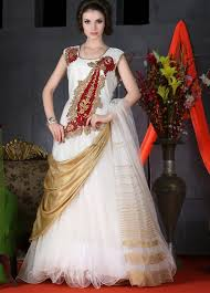 online party wear gowns shopping from india exclusive gown in white