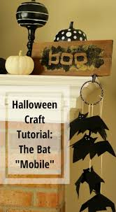 halloween craft tutorial the bat