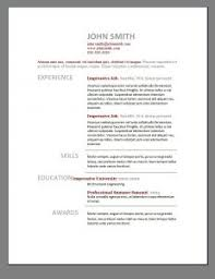 Job Application With Resume by Free Resume Templates 85 Awesome Outline Example Template
