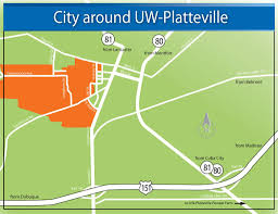 Wisconsin Public Land Map by Printer Friendly City Map University Of Wisconsin Platteville