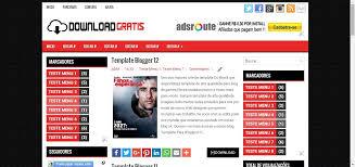mais template template blogger 3 colunas download gratis