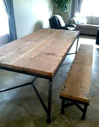 Wooden Table With Bench 19 Best Island Top Images On Pinterest Reclaimed Wood Table Top