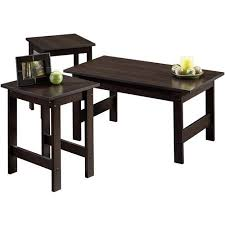 set of three end tables amazon com 3 pack table set in cinnamon cherry living room