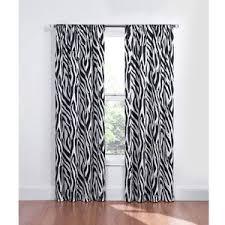 Black And White Window Curtains Black White Zebra Blackout Energy Saving Noise