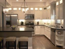 Mkitchen The Example Of Kitchen With White Cabinets Home Decorating Ideas
