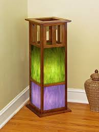 Stained Glass Floor Lamp Hand Crafted Recycled Douglas Fir Stained Glass Floor Lamp By