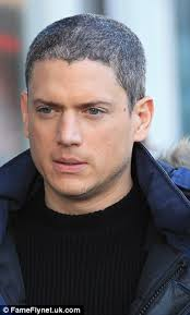 how much for a prison haircut wentworth miller is a silver fox as he sports a new salt and