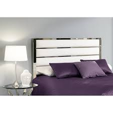 Cushioned Headboards For Beds Bedding Stylish White Faux Leather Upholstered Headboards Bed