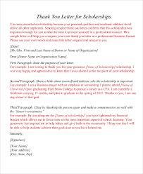 sample award thank you letter scholarship thank you letter for