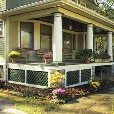 front porch lattice pictures and ideas