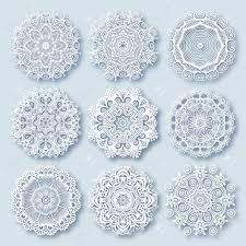 circle lace ornament ornamental geometric doily pattern
