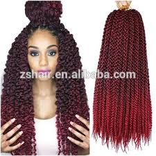 ombre crochet braids 18inch 3d cubic twist crochet braids hair extensions 12roots ombre