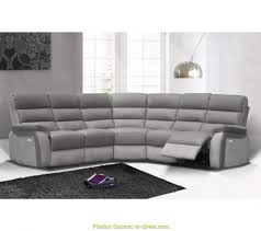 canape angle cuir relax electrique bon canapé angle relax électrique welton cuir gris f micro gris