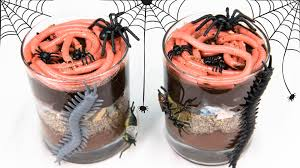 gummy worms in dirt cups for halloween from cookies cupcakes and