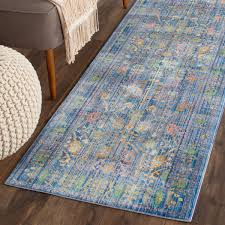 Rugs With Teal Brilliant Blue Antique Styled Area Rug Val108m Safavieh