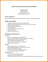 Accounting Objectives Resume Examples by Financial Analyst Objective Resume Free Resume Example And
