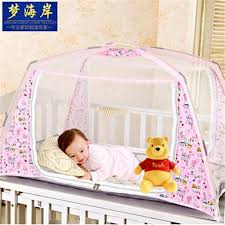 Child Crib Bed Folding Cribs Portable Baby Net Polyester Mesh Foldable