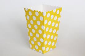 polka dot boxes yellow polka dot popcorn box pop corn scoop yellow favor box party