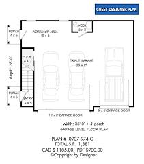 garage plan 0907 974 g house plans by garrell associates inc