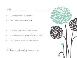 Invitations With Response Cards Aqua Dahlia Wedding Response Card