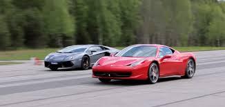 458 lamborghini aventador 458 vs lamborghini aventador rolling race