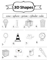 3d shape worksheets worksheets