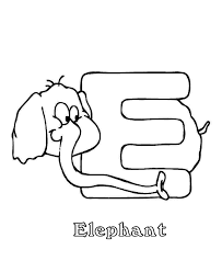 alphabet coloring pages free animal elephant alphabet coloring