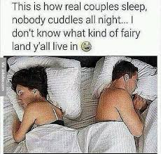Couples Sleeping Meme - how real couples sleep