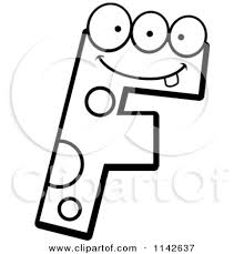 outline clipart f
