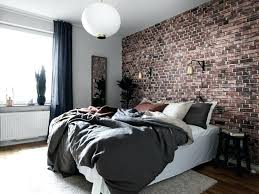 Wallpaper Designs For Bedrooms Accent Wallpaper Ideas Cozy Design Exposed Brick Wallpaper Home