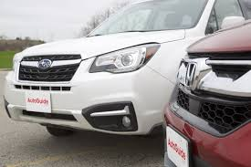 brown subaru forester 2017 honda cr v vs 2017 subaru forester autoguide com news
