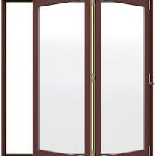 Folding Exterior Patio Doors by Jeld Wen W 4500 Series Right Hand Folding Wood Patio Door